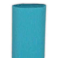 Bibuła marszczona, krepina - turkusowa, 50 x 200 cm
