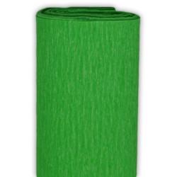 Bibuła marszczona, krepina - zielona trawiasta, 50 x 200 cm