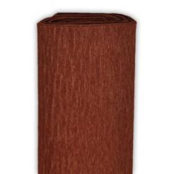 Bibuła marszczona, krepina - brązowa, 50 x 200 cm