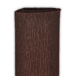 Bibuła marszczona, krepina - ciemnobrązowa, 50 x 200 cm