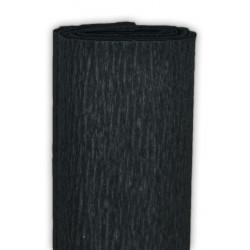 Bibuła marszczona, krepina - czarna, 50 x 200 cm