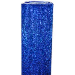 Bibuła marszczona metalizowana niebieska