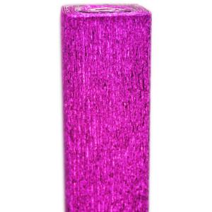 Bibuła marszczona metalizowana różowa