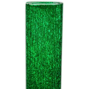 Bibuła marszczona metalizowana zielona