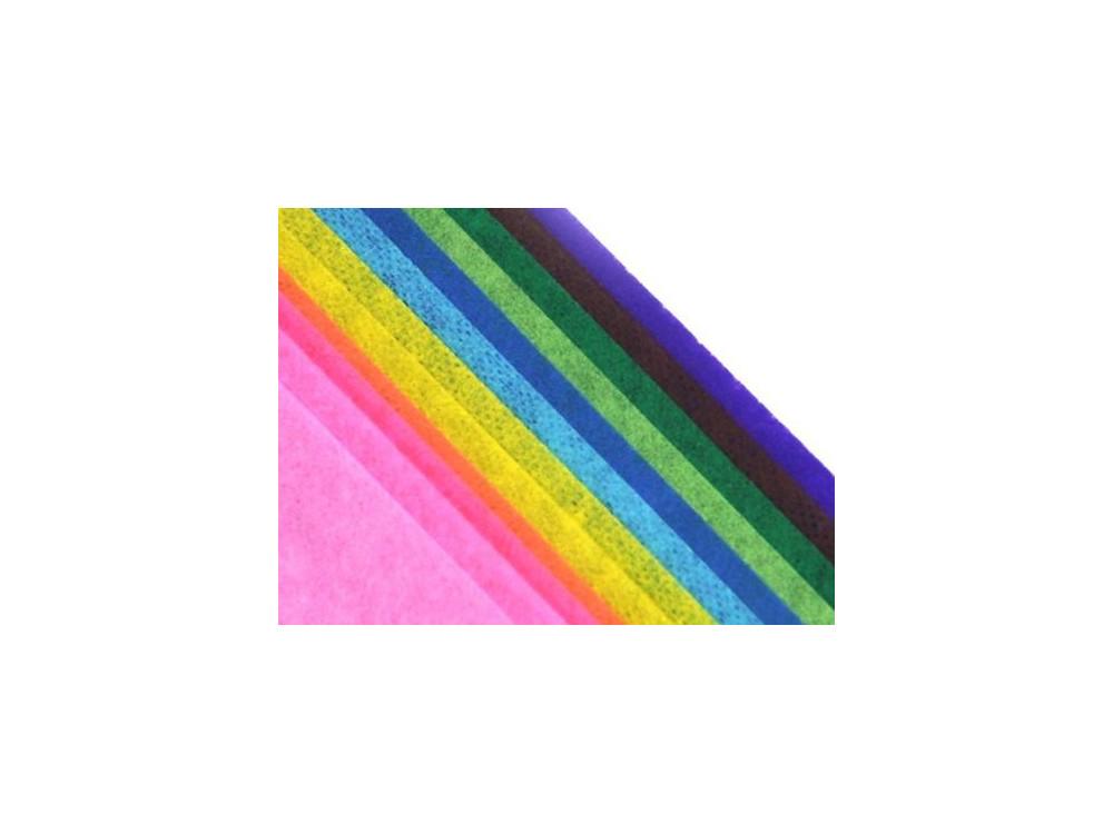 Bibuła gładka w rolce 38 x 50 cm - mix kolorów, 12 ark.