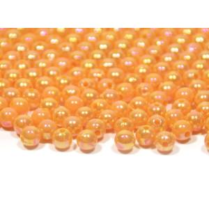 Korale z dziurką ozdobne 8 mm 50 g pomarańczowe