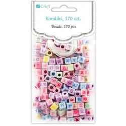 Letter Beads - DpCraft - colorful, 170 pcs.