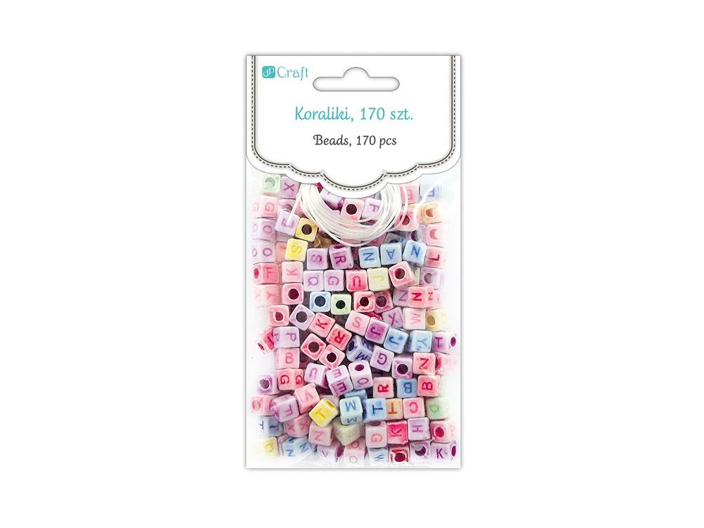 Letter Beads - DpCraft - colorful, 170 pcs.