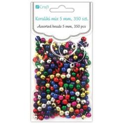 Assorted Beads - DpCraft - colorful, metallic, 5 mm, 350 pcs.