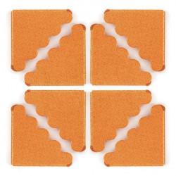 Narożniki ozdobne, metalowe - We R - pomarańczowe, 8 szt.