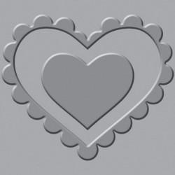 Płytka wytłaczająca Crop-A-Dile III - We R - Heart