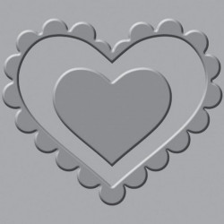 We R - Crop-A-Dile III - Embossing Plates - Heart