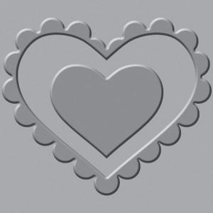 Płytka wytłaczająca We R - Crop-A-Dile III - Heart