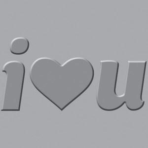 Płytka wytłaczająca We R - Crop-A-Dile III - I Heart You