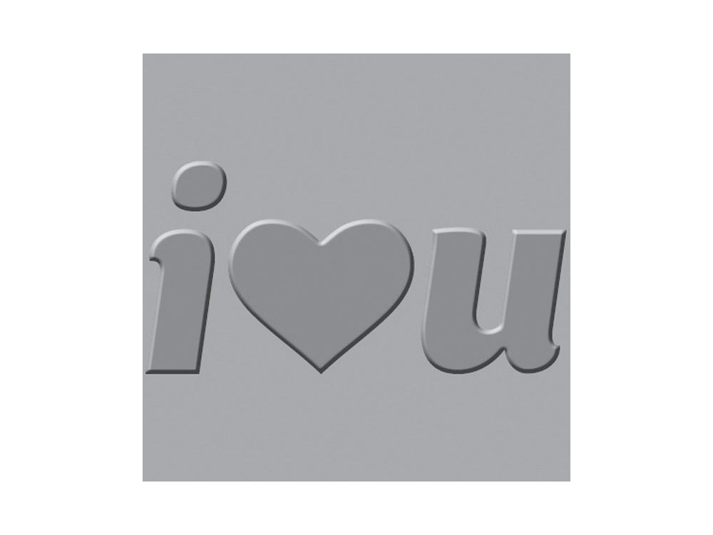 We R - Crop-A-Dile III - Embossing Plates - I Heart You