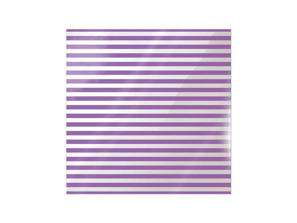 Folia 30 x 30 cm - We R - Neon Purple Stripe