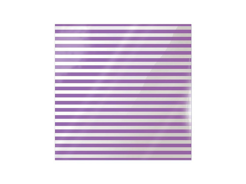 We R Memory Keepers Acetate Sheet - Clearly Bold - Neon Purple Stripe