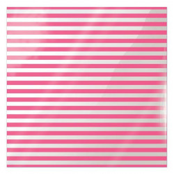 We R Memory Keepers Acetate Sheet - Clearly Bold - Neon Pink Stripe