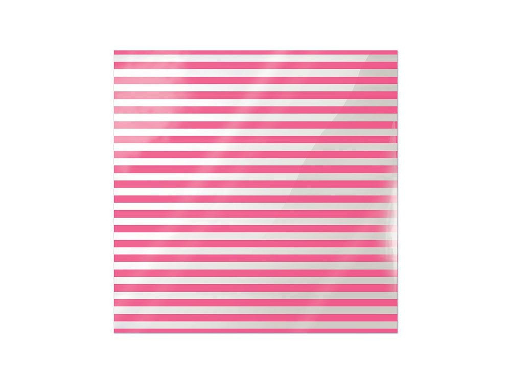 Folia 30 x 30 cm - We R - Neon Pink Stripe