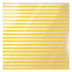 We R Memory Keepers Acetate Sheet - Clearly Bold - Neon Yellow Stripe