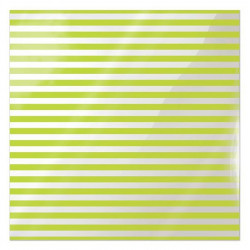 We R Memory Keepers Acetate Sheet - Clearly Bold - Neon Green Stripe