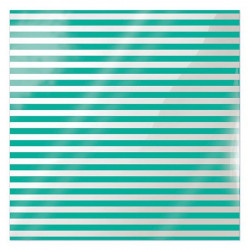 We R Memory Keepers Acetate Sheet - Clearly Bold - Neon Teal Stripe