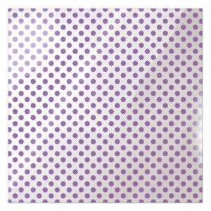 Papier We R - Clearly Bold - Neon Purple Dot
