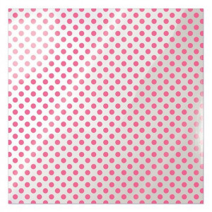 Papier We R - Clearly Bold - Neon Pink Dot
