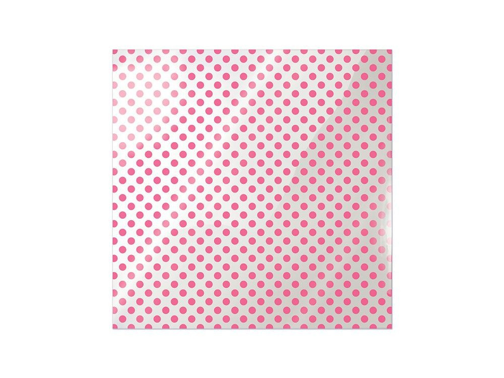 We R Memory Keepers Acetate Sheet - Clearly Bold - Neon Pink Dot