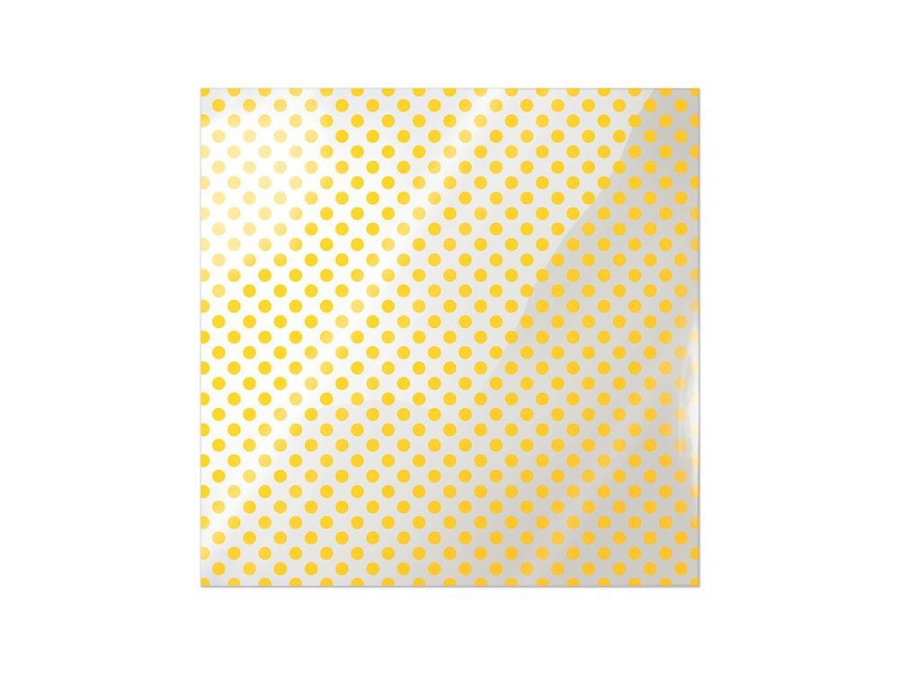 We R Memory Keepers Acetate Sheet - Clearly Bold - Neon Yellow Dot