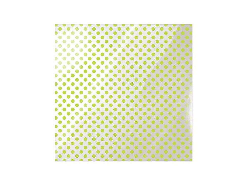 We R Memory Keepers Acetate Sheet - Clearly Bold - Neon Green Dot