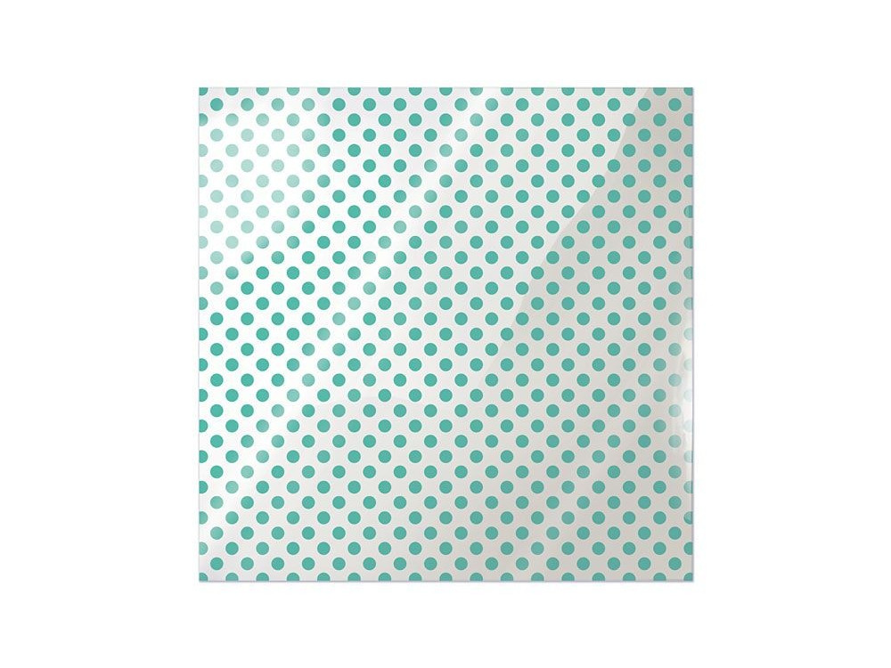 We R Memory Keepers Acetate Sheet - Clearly Bold - Neon Teal Dot