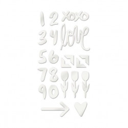 Love Notes Acrylic Shapes 22/pkg We R Stickers