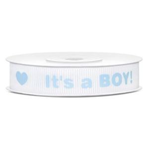 Tasiemka rypsowa It's a Boy! 12 mm 10 m