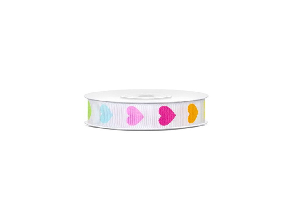 Repp Ribbon Colourful Hearts 12 mm 10 m