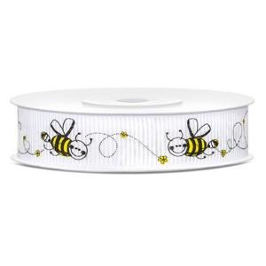 Tasiemka rypsowa Pszczółka 15 mm 10 m