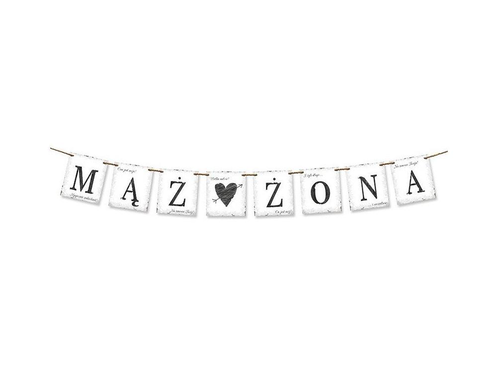 Banner Mąż Żona - white, 100 cm