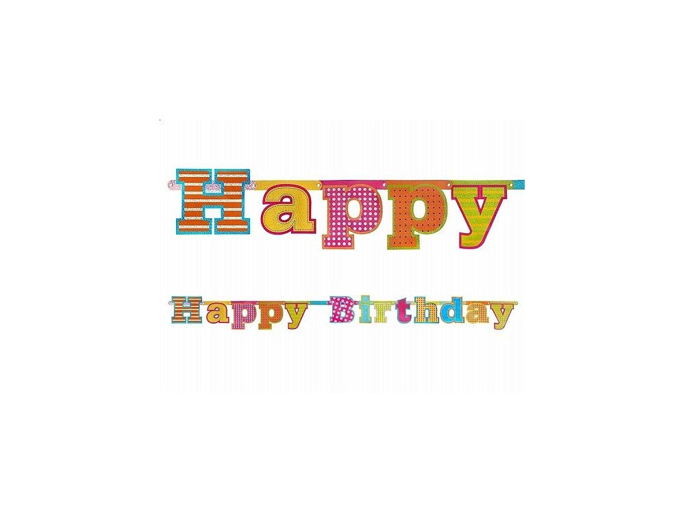 Banner Happy Birthday - 16 x 166 cm