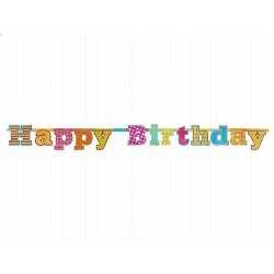 Banner Happy Birthday - 16 x 166 cm