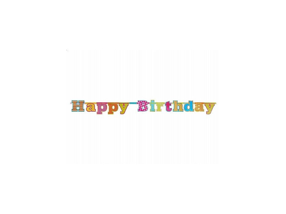Baner Happy Birthday - 16 cm x 166 cm