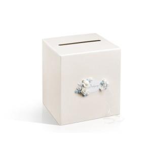 Pudełko na koperty i życzenia, perłowe kremowe 24 x 24 cm