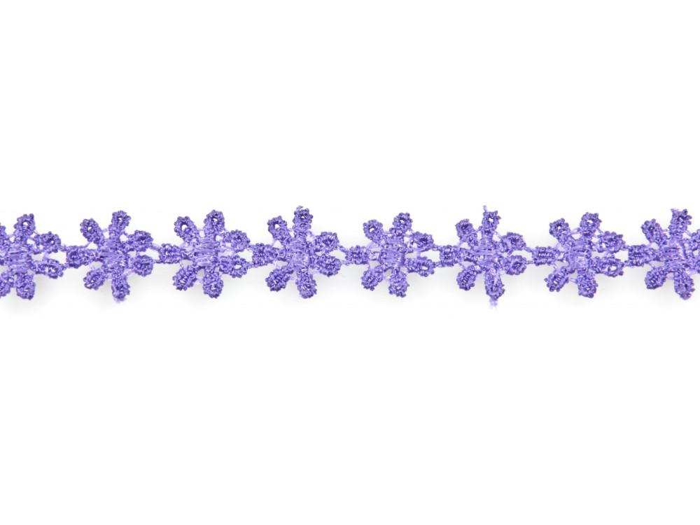 Koronka bawełniana fioletowa 1,2 cm x 4,3 m