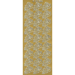 Stickers - Flowers 6503 Gold