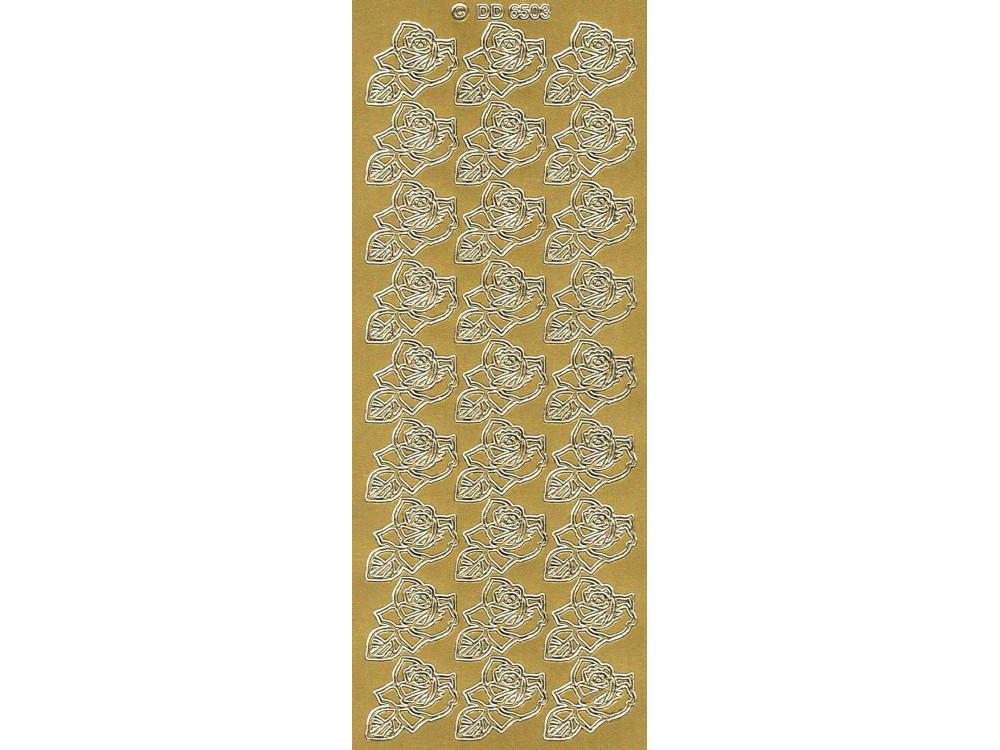 Stickersy - Róże 6503 złoty