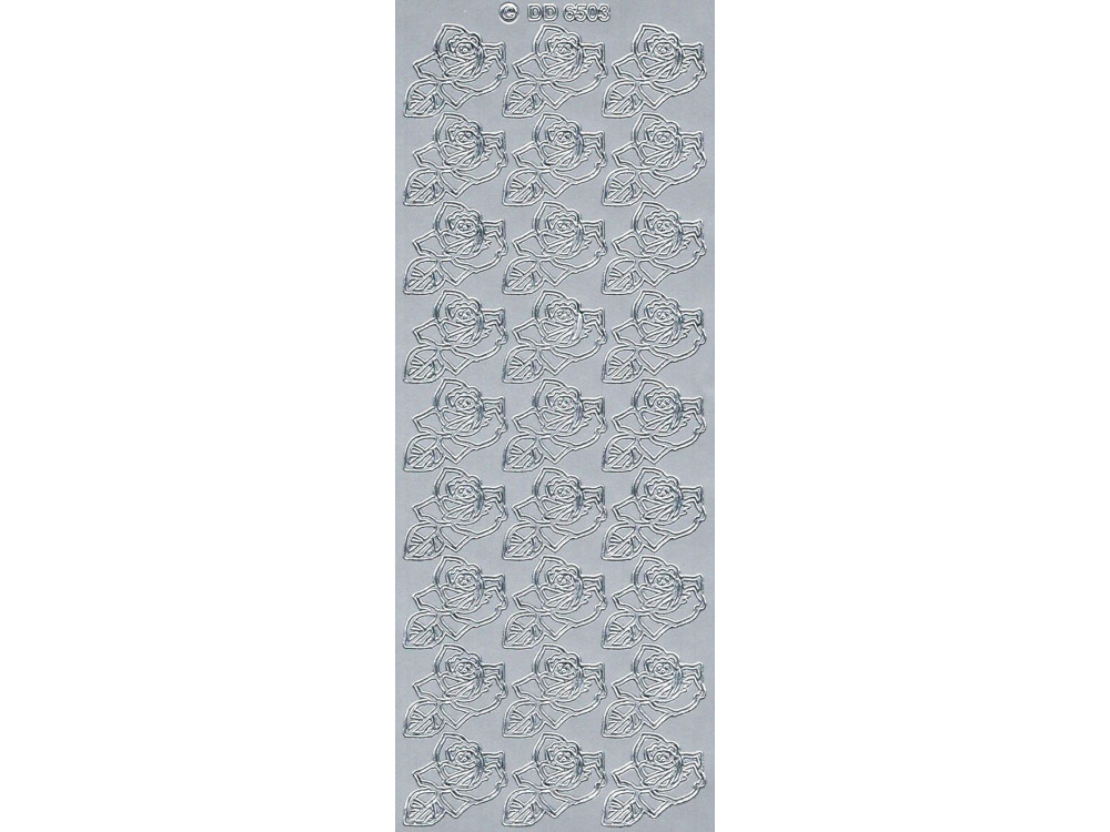 Stickers - Flowers 6503 Silver