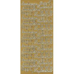 Stickersy - Serdeczne Życzenia 412 złoty