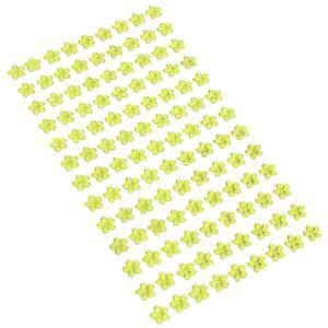 Kryształki kwiaty samoprzylepne 8 mm 117 szt. j. oliwkowe