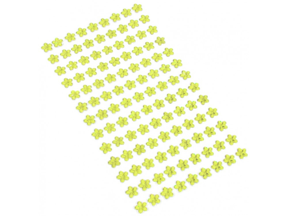 self-adhesive flower gems 8 mm 117 pcs light olive