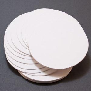 Papier Biały Kółka 9 cm - Letterpress 20 szt.