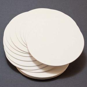 Papier kremowy kółka 9cm - Letterpress 20 szt.